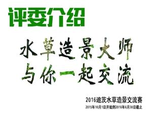 2016年迪茨水草造景比赛评委介绍