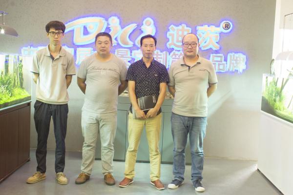 浙江水族馆加盟经销商来访迪茨公司