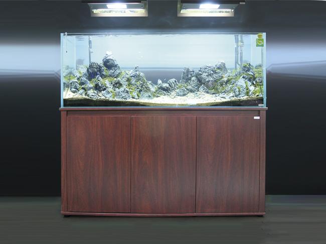 迪茨鱼缸三门实木底柜